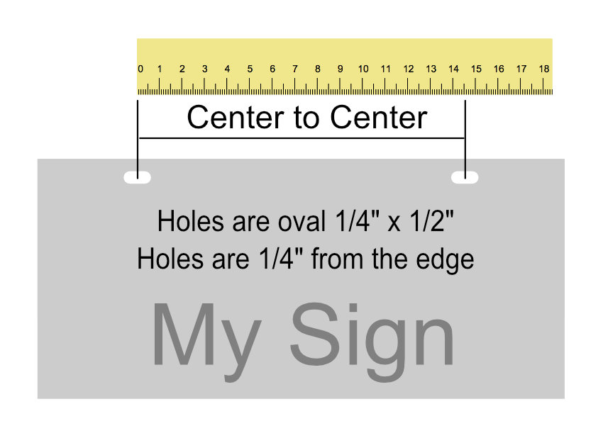 hole spacing image