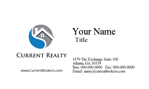 current realty business card