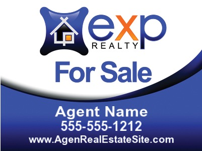 exp agent for sale sign 24x18