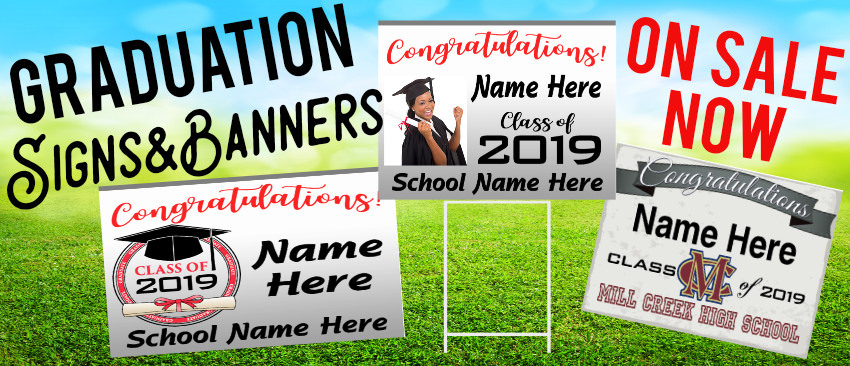 graduation signs and banners sale