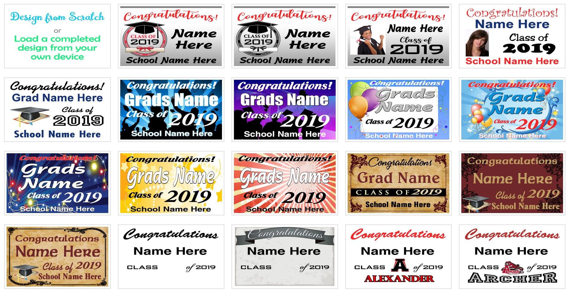 graduation signs and banners image