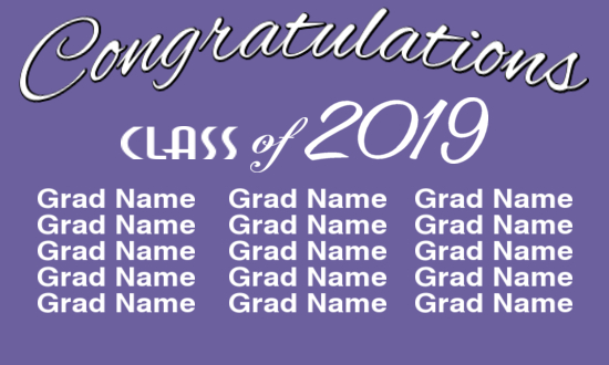 Neighborhood Graduation Banner