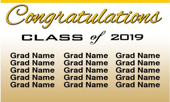 Neighborhood Grad banner sample