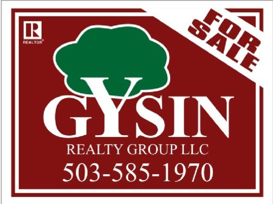 gysin realty sale sign 24x18