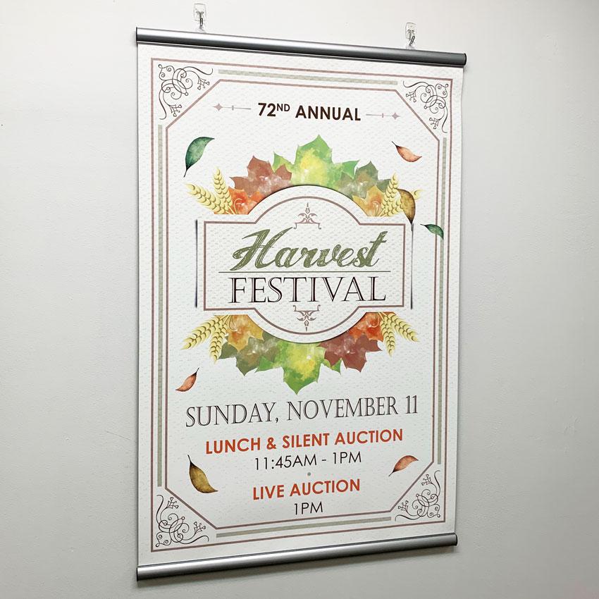 hanging display indoor banner image