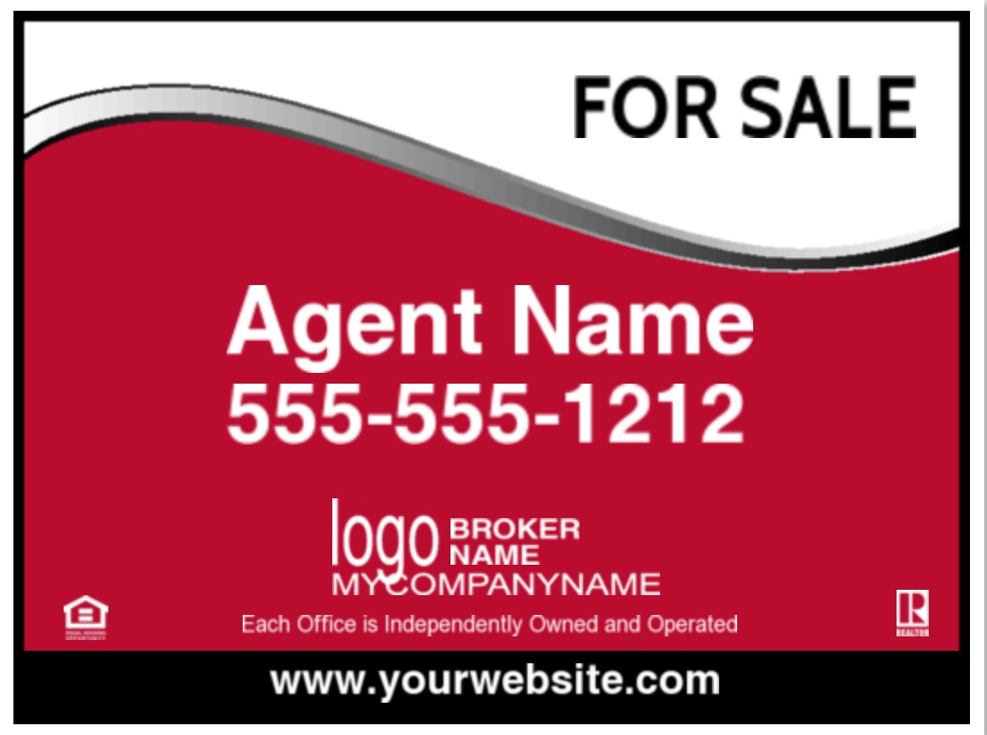 krealty 24x18 sign image