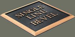 single line bevel edge sample