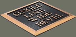 single line wide bevel edge sample