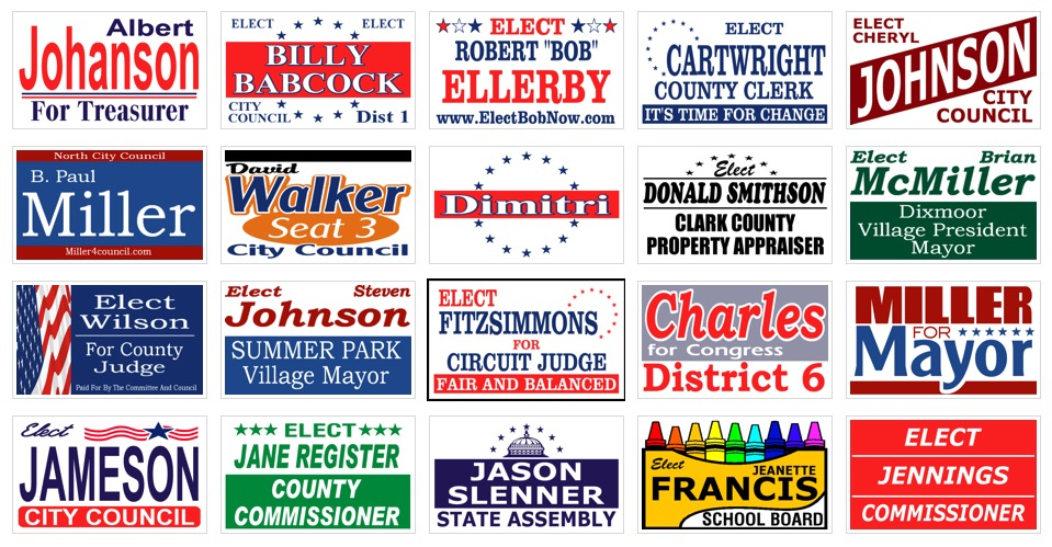 political signs samples