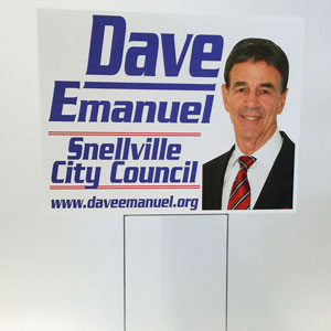 political signs and banners