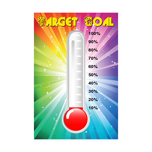 progress thermometer poster print