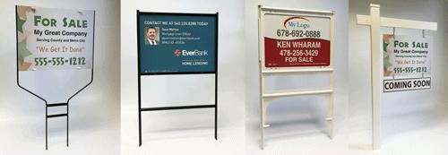 yard sign frames image