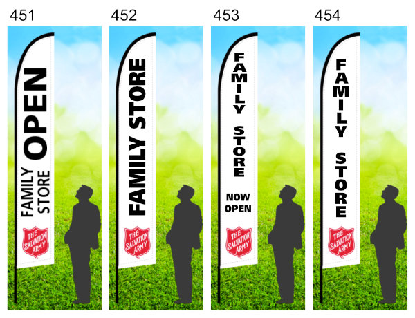 salvation army family store flag image