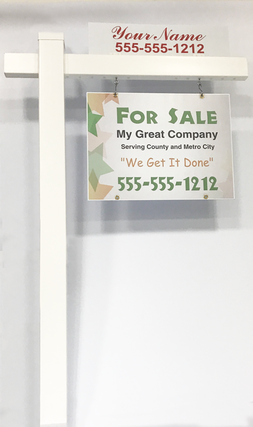 real estate sign post vinyl sign post a better sign