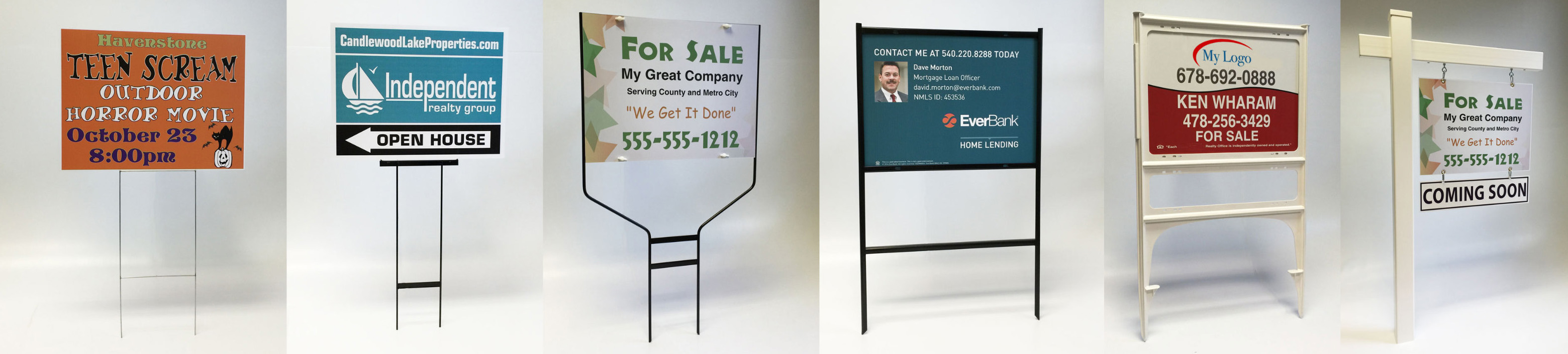 yard signs in frames image