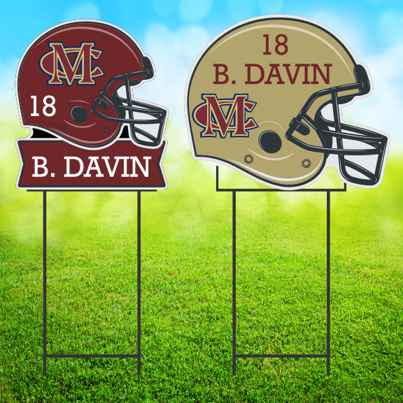 yard sign football helmet image